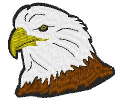 EMbroidery Pictures Free Embroidery Design: Eagle Mascot 2.00 inches H x 2.00 inches W