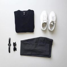 Follow @inisikpe for daily style #suitgrid to be featured ________________________________________ #SuitGrid by @wouterkaan ________________________________________ Tap For Brands #inisikpe Sweater/Trousers: @hm Shoes: @commonprojects Watch: @christianpaulwatches Glasses: @aceandtate