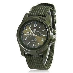 Men's New Men Military Army Bomber Pilot Canvas Strap Sports Quartz Wristwatch Military Style Watches, Army Watches, Mens Sport Watches, Watches For Men, Military Army, Military Green, Tactical Watch, Blue And Green, Navy Blue