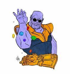 When you finally get all the infinity stones #avengers #thanos #infinitywar <<< Make it rain, Thanos