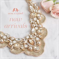 You're sure to have a blush crush on our new #chloeandisabel jewels – available now on my boutique!