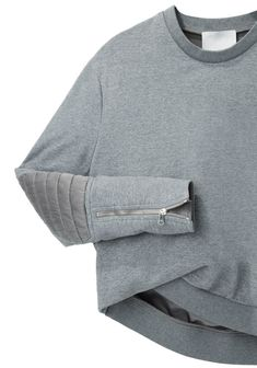 3.1 Phillip Lim / Biker Sleeve Sweatshirt | La Garçonne... Is it available in black I wonder...