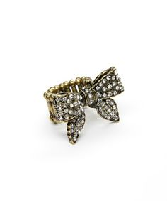 Another great find on #zulily! Rhinestone Bow Stretch Ring #zulilyfinds