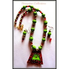 Green Ethnica! Paper necklace