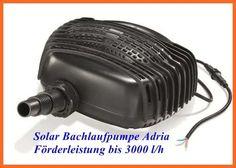 Solar Bachlaufpumpe Adria Förderleistung bis 3400 l/h 101761