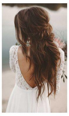 Classic Wedding Hair, Boho Wedding Hair, Wedding Hair Down, Wedding Hair And Makeup, Wedding Hair Accessories, Bohemian Weddings, Wedding Vintage, Trendy Wedding, Timeless Wedding