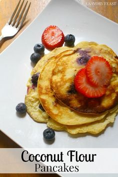 These tasty Coconut Flour Pancakes are a wonderful way to start your ...