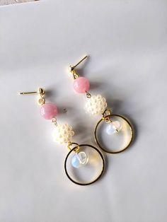 Jewellery Earrings, Pearl Earrings, Jewelry, Pink Agate, Opal, Bridal Shower, Quartz, Etsy Shop, Stone