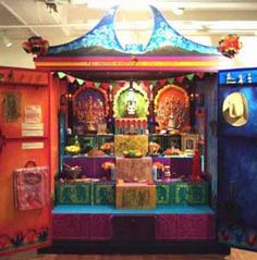 Dia de los Muertos in Boston of all places.  So cool they use an entire armoir for the altar.