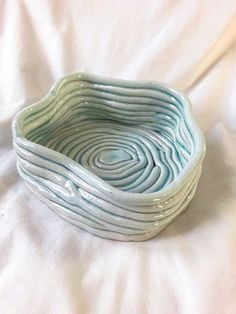 NOT AN ASHTRAY It has a couple of holes in the bottom so it wouldn't be very good for that. Ceramic Clay, Ceramic Pottery, Pottery Art, Ceramic Bowls, Slab Pottery, Pottery Studio, Pottery Designs, Ceramic Jewelry, Pottery Bowls