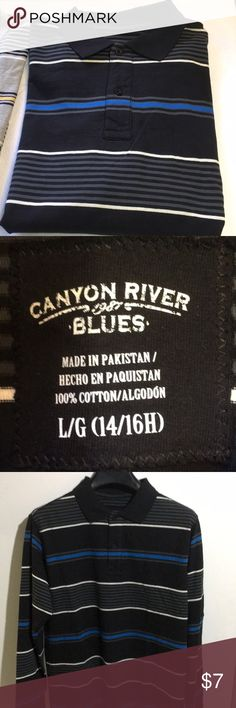 Canyon River Blues Boys Long Sleeve Shirt Canyon River Blues Boys Long Sleeve Shirt. NWOT, BRAND NEW, NEVER WORN. Size: L (14/16H). 100% Cotton. Machine washable. Smoke Free Home. Canyon River Blues Shirts & Tops Tees - Long Sleeve