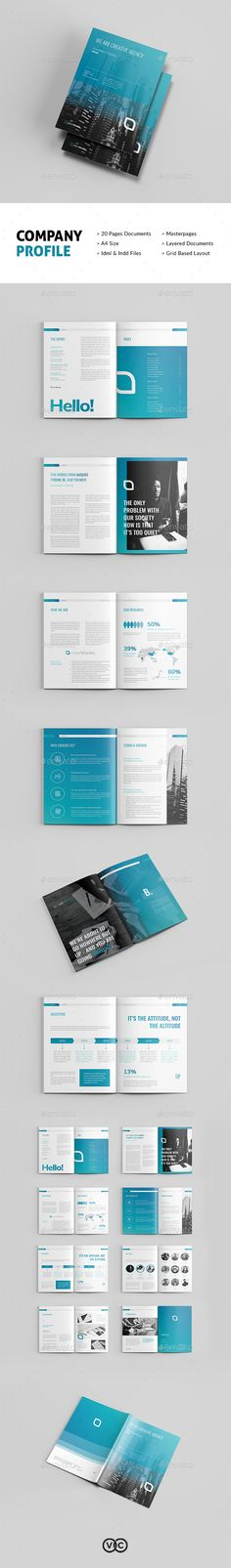 Company Profile Brochure Template InDesign INDD - Download here: https://graphicriver.net/item/company-profile/21866552?ref=ksioks