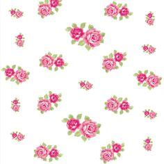 Papel de Parede Rosas Sobre Branco - Papel de Parede Digital