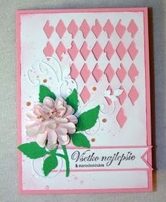 Kika's Designs : Pink Flower Card