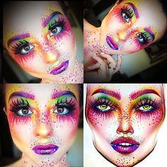 Rainbow face makeup