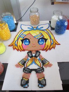 Rin - Vocaloid hama perler beads by Aenea-Jones on deviantART