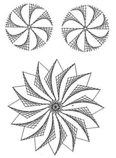 The Latest Trend in Embroidery – Embroidery on Paper - Embroidery Patterns String Art Templates, String Art Tutorials, String Art Patterns, Nail String Art, String Crafts, Crafts For Teens, Arts And Crafts, Arte Linear, Math Art
