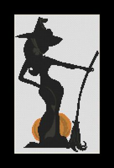 Agnes Witch Cross Stitch Download pdf chart by Lovethythreads, £4.00