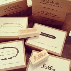 Wit & Whistle rubber stamps and cards now in stock at @Spruce Collective!  @Amanda @ Wit & Whistle
