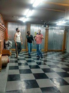 "Erick,  Raymon, and Tula on the set of ""Cribs-ish"""