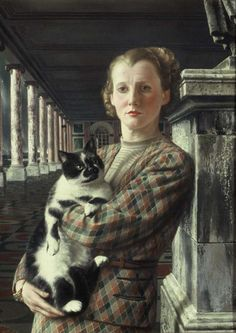 Carel Willink (1900-1983)  —  Wilma with the Cat. (500×706)
