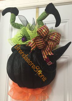 Hey, I found this really awesome Etsy listing at https://www.etsy.com/listing/459197834/crashing-witch-in-a-cauldron-deco-mesh