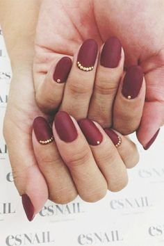 matte marsala wedding nails - brides of adelaide
