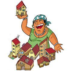 La gitana i les cases.