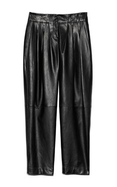Shop Plonge Lamb Wide Cut Trouser With Pleated Waistband by Alexander Wang for Preorder on Moda Operandi Alexander Wang, Lamb, Leather Pants, Trousers, Women's Fashion, Shopping, Collection, Leather Jogger Pants, Trouser Pants