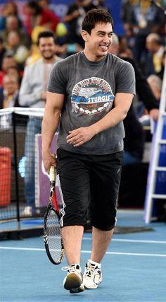 Aamir Khan in international prenier tennis league.