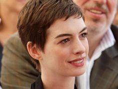 Anne Hathaway-short hair