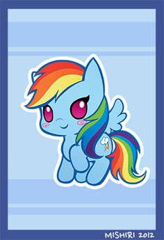 Chibi Rainbow Dash! ^......^  This is the most gentle Rainbow Dash has ever looked, being honest, lol.