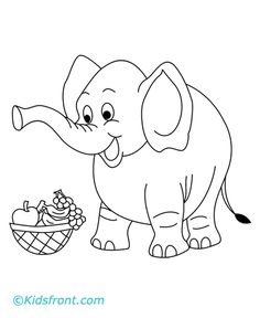 baby elephant coloring pages | print colored image of elephant elephant coloring page for kids