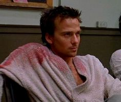 Sean Patrick Flanery. There aren't many people who can make a bloody robe look hot, but he is definately one of them