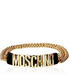 Moschino Belt http://iloveloud.com/moschino/1111-logo-statement-belt-chain.html