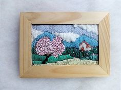 Textiles Painting Miniature  Tapestry Handmade Embroidery