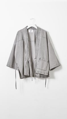 Satori Kimono Grey Denim Jacket by Shaina Mote