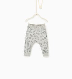 Leggings with letters and numbers - TROUSERS-BABY BOY | 3 months-3 years-KIDS | ZARA Greece