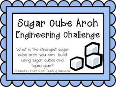 Sugar Cube Arches: Engineering Challenge Project for a Teen Makerspace Program Middle School Classroom, Middle School Science, Science Classroom, Teaching Science, Stem School, Classroom Ideas, Stem Teaching, Teaching Tools, Teaching Ideas
