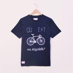 Illustrated Organic Bicycle T-shirt