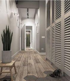 НЕТ: избитый приём перехода кафель-плитка Grey Interior Design, Interior Paint Colors, Paint Colors For Home, Interior Design Living Room, Hallway Furniture, Hallway Decorating, Floor Design, Room Colors, Architecture