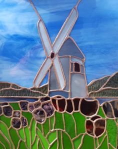 Stained Glass by Rosemary Doran - Arts & Crafts Ideas Rapid Resizer, She Sheds, Dutch Recipes, Stained Glass Patterns, Stencil Painting, Windmills, Pencil Drawings, Stencils, Arts And Crafts