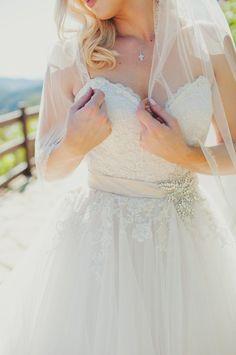 Classic ballgown wedding dress idea; photo: Eliza J. Photography