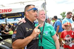 Tony Schumacher & Team at the New England National's in the US. Army T/F Dragster