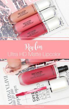 """Revlon Ultra HD Matte Lipcolor """"630 Seduction"""", """"600 Devotion"""" & """"610 Addiction"""": Review and Swatches"""