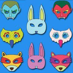 Over 100 Free Printable Masks for Kids - Itsy Bitsy Fun Printable Masks, Free Printables, Halloween Photo Props, Monster Mask, Animal Masks, Drawing For Kids, 100 Free, Mask For Kids, Origami