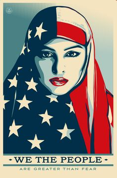 Shepard Fairey, We The People, Inauguration 2017, poster, feminism