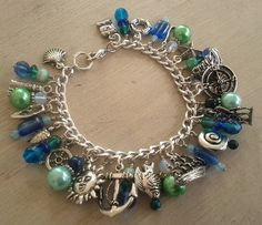 HP Craftalong ~Summer Semester 2013~ Bertie Bott's Rotten Eggs - Nautical Charm Bracelet