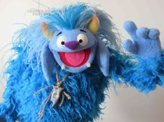 Hi everyone, here is the latest puppet from Jarrod Boutcher Puppets. All puppets are custom hand built puppets to ensure you are buying a one of a kind puppet. This Troll has been made with the best materials, soft shaggy blue fur and Antron fleece head and hands. | eBay! Types Of Puppets, Puppet Patterns, Monster Toys, Puppet Making, Hand Puppets, Kids Church, Troll, Needle Felting, Crafts For Kids
