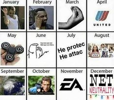 Recap of the most popular memes of 2017 all in one picture